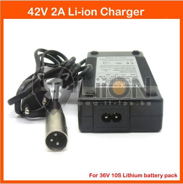Elektromos kerékpár töltő Li-Ion 36V 2,0A XLR