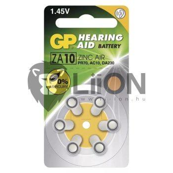 GP ZA10 hallókészülék gombelem