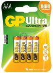 GP Ultra alkáli AAA elem 4 db-os 24AU