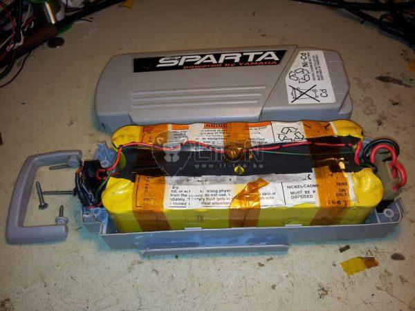 Sparta Yamaha Kynast 24V ni-cd pedelec e-bike akku felújítás