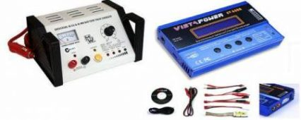 Chargers, inverter and converter instruments, power-supply units