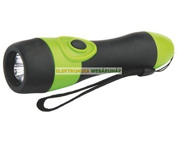3 LED gumis rúdlámpa