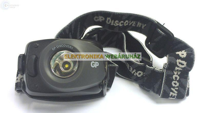 GP LED fejlámpa LOE208 + 3 x AAA GP Ultra elem