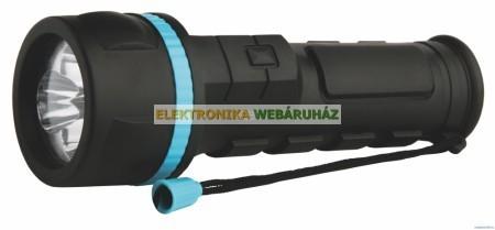 3 LED gumis rúdlámpa D elemes