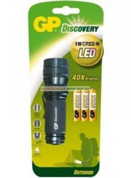 GP LED 1W elemlámpa LOE203 + 3 x AAA GP Ultra elem