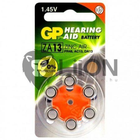 GP ZA13 hallókészülék gombelem