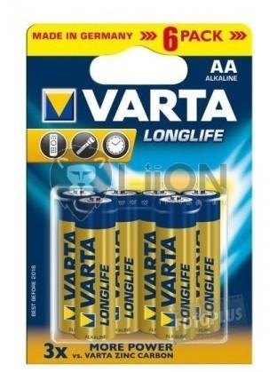 Varta Longlife AA elem 6db-os bliszter