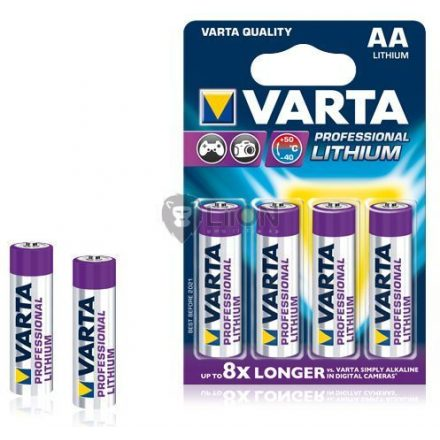 Varta Lithium AA elem 4db-os