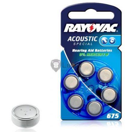 Rayovac Hearing Aid HA675 nagyothalló elem