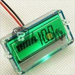 Univerzális elektromos jármű töltöttségjelző LCD 12V, 24V, 36V, 48V ólom / lítium akkuhoz