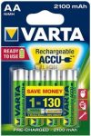 VARTA Ready 2 Use AA 2100 mAh ceruza akkumulátor 4 db-os