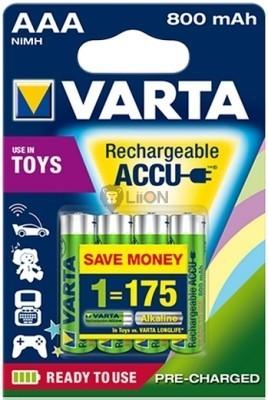 VARTA Ready 2 Use AAA 800 mAh micro akkumulátor 4 db-os