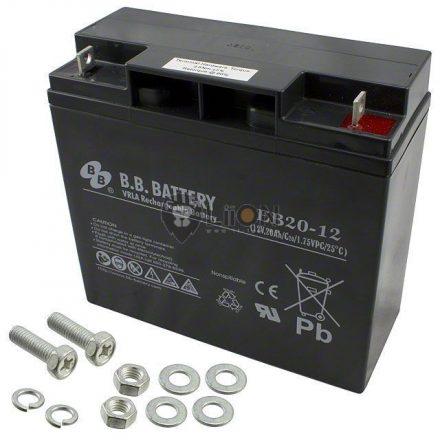 12V 20Ah ciklikus e-kerékpár akkumulátor