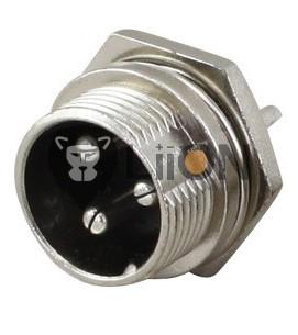 GX16-3 elektromos kerékpár töltő aljzat