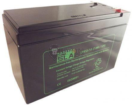 12V 7Ah ciklikus e-kerékpár akkumulátor