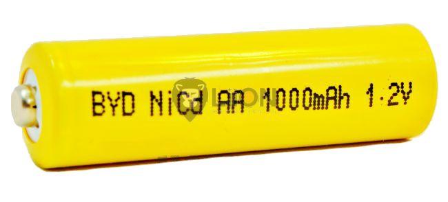 Ni-Cd 1,2V 1100mAh AA battery cell