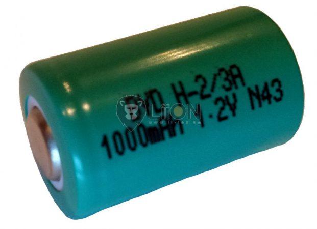 Ni-Mh 1,2V 1100mAh 2/3A battery cell