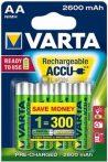 VARTA Ready 2 Use AA 2600 mAh ceruza akku 4 db-os