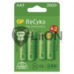 GP 2700mAh AA 6db-os akku (GP Recyko+)