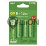 GP Recyko+ 2700 Series AA 6db akku