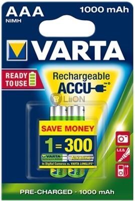 VARTA Professional fotóakku Ready 2 Use AAA 1000 mAh micro 2db-os