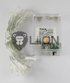 Trixline karácsonyi fényfüzér 20 LED természetes fehér fény 6500K 2,4m (TR300)