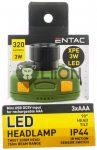 3W LED fókuszálható műanyag szenzoros fejlámpa ENTAC