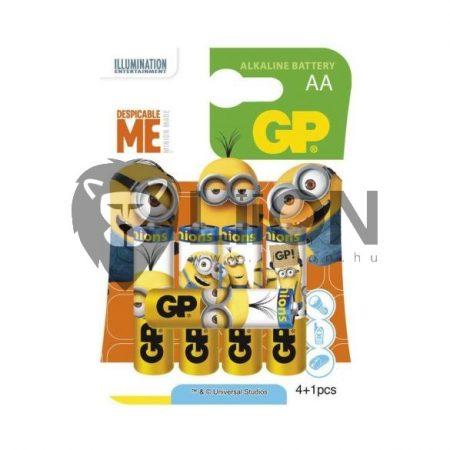 GP Minions 15A/B 4+1 alkáli elem AA