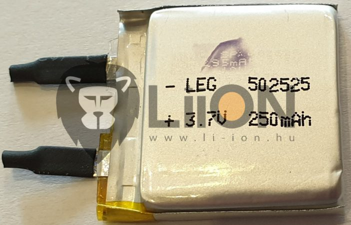 502525 3,7V 250mAh Li-polymer akku