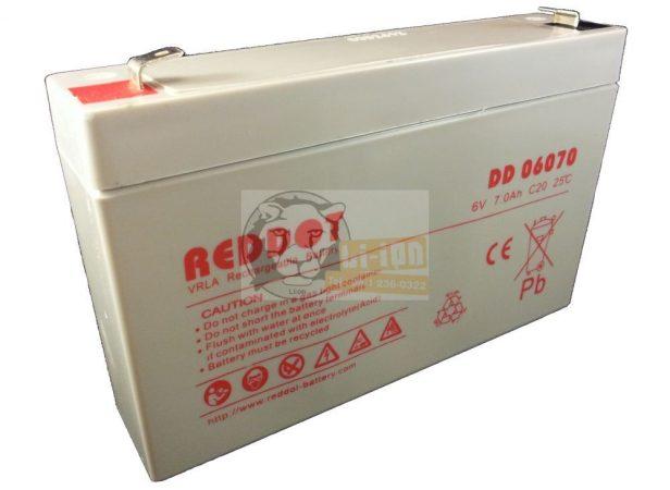 Reddot 6V 7Ah ólom zselés akkumulátor