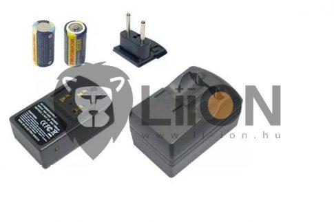CR123A akkumulátor és töltő