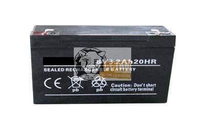 6V 3,2Ah ólom zselés akkumulátor
