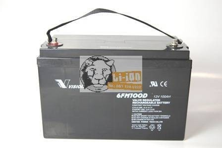 12V 100Ah ólom zselés akkumulátor