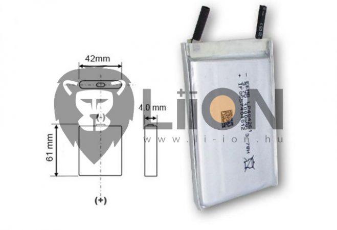 Li-polymer 180mAh MP3 MP4 battery 042030
