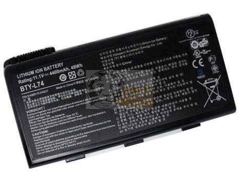 MSI BTY-L74 utángyártott laptopakku