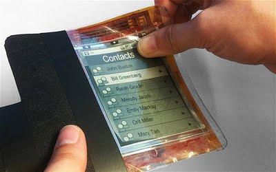 hajlítható mobiltelefon akkumulátor